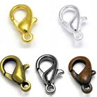 Lot of 20 Plated Little 10mm Long Lobster Claw Trigger Clasps with Closed Loop