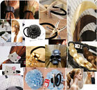 Lady Faux Hair Band extension elastic Rope Hairpiece Pony tail Holder accessory