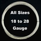 Sterling Silver Wire Half Hard All Sizes (18 to 28 Gauge) Wholesale Lots.925 USA