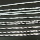 Sterling Silver Chain 1mm Curb Chain, Bulk By The Foot Unfinished. 925 Italy