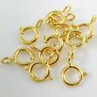 Vermeil 22K Gold Plated over Sterling Silver Spring Ring Clasp (All Sizes) Bulk