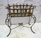 Wrought Iron Small Oval Plant Stand - Metal Flower Holder for Your Garden 2 Size