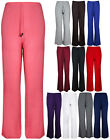 Ladies New Plus Size Wide Leg Palazzo Pants Womens Stretch Flared Trousers 16-26