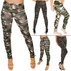 New Womens Ladies Camo Camouflage Print Full Length Leggings Size 8 14 S M L XL