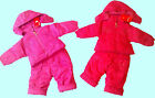 BABY GIRLS SNOWSUIT-2PC OUTFIT-PADED-HOODED-ZIPUP JACKET&BOTTOM(GIRL PRINT)BNWT