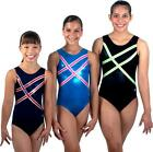 NEW!! Black Linear Gymnastics Leotard by Snowflake Designs