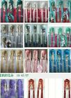 VOCALOID MIKU Cosplay (11 color) New Long heat resistant wig Clip Ponytail 100cm