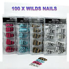 ROYAL 100 WILD NAIL TIPS - PROFESSIONAL - 4 LOVELY STYLES