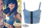 ♥♥♥ NEW WITH TAGS! TOPSHOP DENIM LOOK ZIP BRALET SOLD OUT!!! ♥♥♥