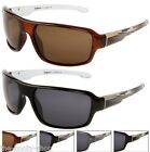 SPORTS POLARIZED UV400 MENS LADIES LARGE DRIVING FISHING BLACK WRAP SUNGLASSES