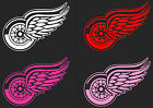 """HUGE 12"""" Detroit Red Wings Car Truck Window Decal RED WHITE PINK sticker hockey"""