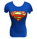 LADIES GIRLS WOMEN SUPERMAN PRINTED T-SHIRT TOP JERSEY FITTED LONG LENGTH