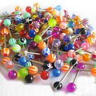 100 x Wholesale Lot Tongue Nipple Rings Body Jewelry Tounge 14g  FREE SHIPPING