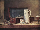 Art Photo Print - Pipes And Drinking Pitcher - Chardin Jean Baptiste Simeon 1699