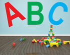 ABC Childrens Lettering Wall Art Stickers - Various Colours or Single Colour