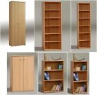 BEECH EFFECT BOOKCASES BOOK SHELVES FILING STORAGE CUPBOARDS OFFICE FURNITURE