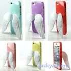 5 Color New TPU Soft Case Cover Skin With 3D Design Angel Wing For iPhone 5 5G