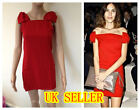 Celebrity Womens Red BOW Detail Coctail Party Dress S M L UK8-12  RED