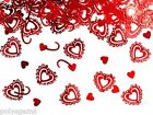 2 x 15G PACKS OF SPARKLING HEART WEDDING TABLE CONFETTI DECORATIONS