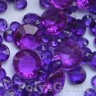 DARK PURPLE WEDDING TABLE DIAMONDS SCATTER CRYSTALS