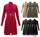 NEW LADIES KNITTED BOYFRIEND CARDIGAN WOMENS CROCHET DRESS TOP SIZES 8 10 12 14