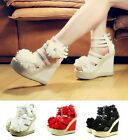 "3 Color Sexy Pump Prom Platform Women 5"" High Heel Sandals Shoes Size 5.5 - 10"