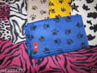 NEW fleece dog animal paw print baby toddler bedding blanket PICK COLOR & SIZE