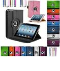 360 Degree Rotating Stand PU Leather Case & Screen Protector For Apple iPad Mini