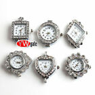 Silver Plated Rhinestone Quartz Watch Face For Beading Jewellery Making DIY