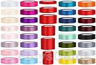 25 METRES FULL REEL SATIN RIBBON - 6MM 12MM 25MM 38MM 50MM 100MM WIDE