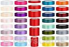 25 METRES FULL REEL SATIN RIBBON - 6MM 12MM 25MM 38MM 50MM 100MM - WEDDING CRAFT