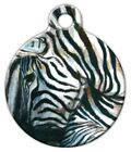 ZEBRA - Custom Personalized Pet ID Tag for Dog and Cat Collars