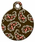 PINK PAISLEY - Custom Personalized Pet ID Tag for Dog and Cat Collars