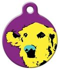 POP ART RETRIEVER - Custom Personalized Pet ID Tag for Dog and Cat Collars