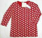 UNIQLO WOMEN CABBAGES & ROSES 3/4 SLEEVE T-SHIRT Red (075691)