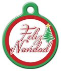 FELIZ NAVIDAD - Custom Personalized Pet ID Tag for Dog and Cat Collars