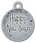 HAPPY NEW YEAR - Custom Personalized Pet ID Tag for Dog and Cat Collars