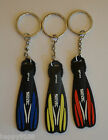 Flipper Key Rings / SCUBA FIN KEY RINGS / DIVING KEY RINGS / RED YELLOW BLUE