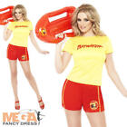 Baywatch Beach Ladies Fancy Dress 1980s-1990s Womens Shorts Costume Outfit 8-16