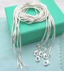 Wholesale 5 PCS solid silver 2MM snake chain 16-24 inches necklace gift