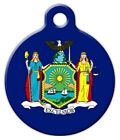 NEW YORK FLAG - Custom Personalized Pet ID Tag for Dog and Cat Collars