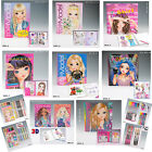 Top Model Colouring Sticker Books, Fashion Designer Books