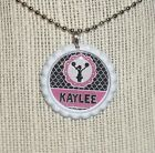 Cheerleader Personalized Flattened Bottlecap Necklace or Keychain