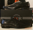 Goor Leather lined square toe Mens lace up Dress shoes in Black 6 7 8 9 10 11 12