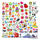 1 Sheet Sticker New 3D Raised Kid Girl Boy Party Scrapbook Diary Wall Decal Gift