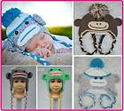 New Baby Boys Girls Hat Beanie Monkey Collect Knit Crochet Hat Beanie Cap Gift