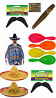 MEXICAN BANDIT MENS FANCY DRESS COSTUME BIRTHDAY NEW YEAR STAG PARTY ONE SIZE