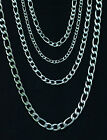 """Stainless Steel Figaro Chain Necklace Men or Woman Width 4mm-7mm Length 18""""-30"""""""