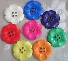 "HUGE DAISY BUTTONS x 2  SIZE 100 2.5"" (63mm) - PERFECT FOR BAGS - MANY COLOURS"
