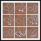 Wholesale special holiday gift Fashion Jewelry 925Silver Necklace+Bracelet Set